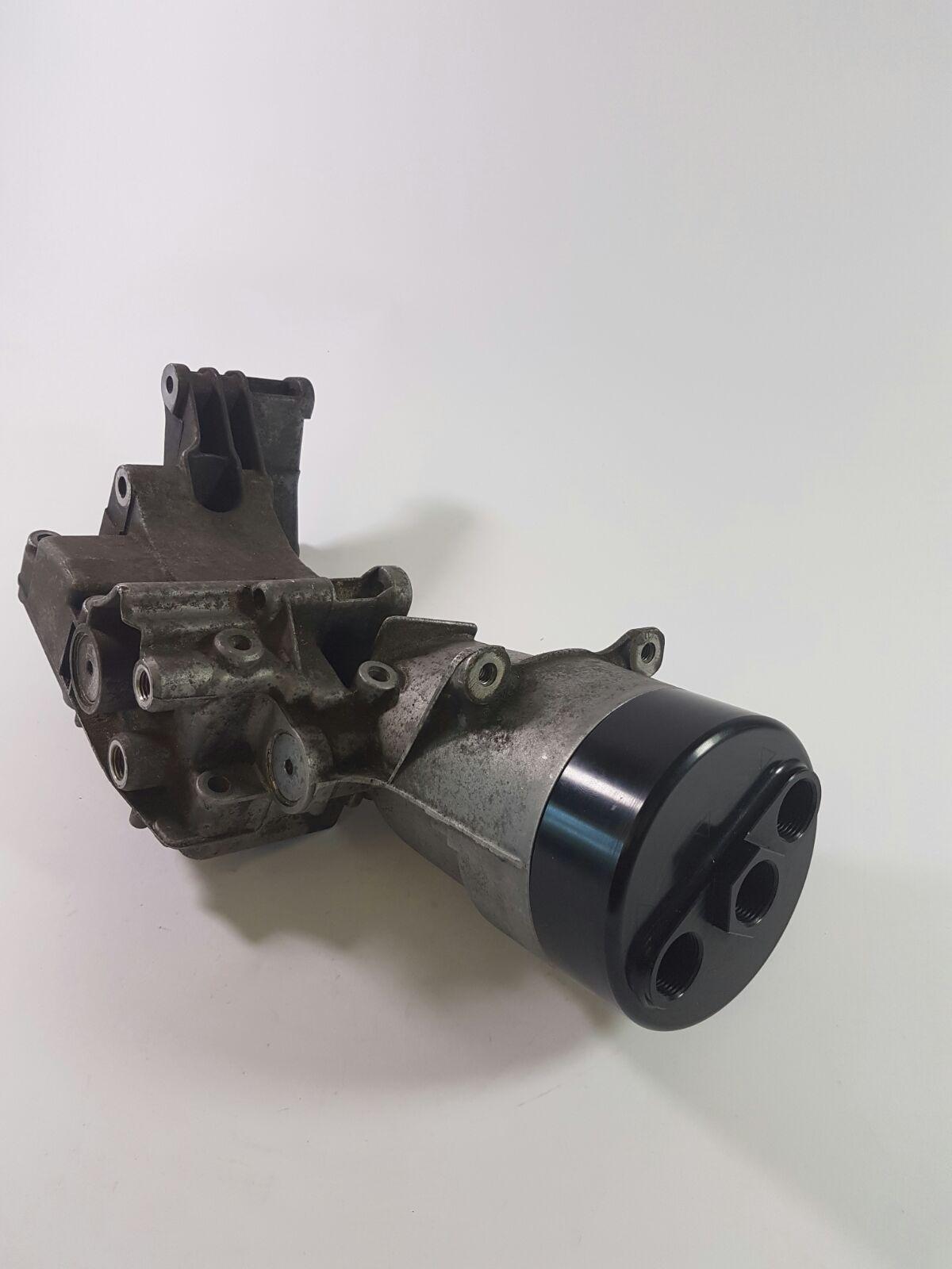 Billet Oil Filter Lid For Oil Cooler Screw On Type